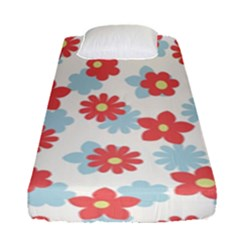 Flower Pink Fitted Sheet (single Size)