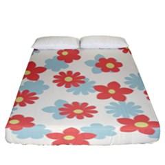 Flower Pink Fitted Sheet (king Size)