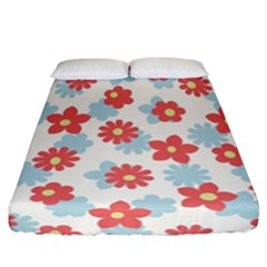 Flower Pink Fitted Sheet (california King Size)