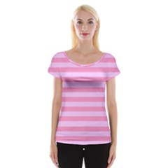 Fabric Baby Pink Shades Pale Women s Cap Sleeve Top