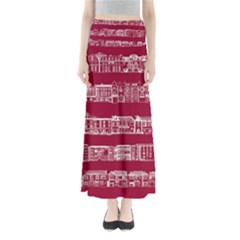 City Building Red Maxi Skirts