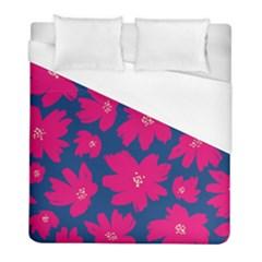 Flower Red Blue Duvet Cover (full/ Double Size)