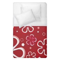 Flower Red Cute Duvet Cover (single Size)