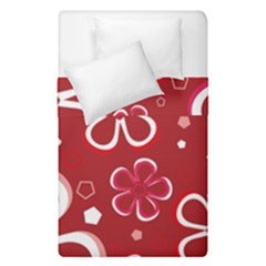 Flower Red Cute Duvet Cover Double Side (single Size)