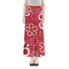 Flower Red Cute Maxi Skirts