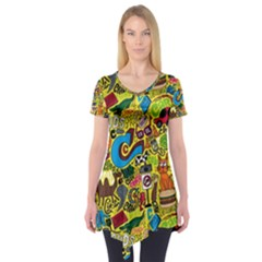 C Pattern Short Sleeve Tunic