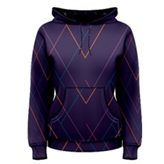 Line Color Women s Pullover Hoodie