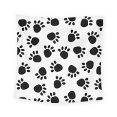 Paws Black Animals Square Tapestry (small)