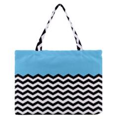 Color Block Jpeg Medium Zipper Tote Bag