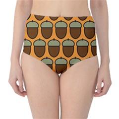 Acorn Orang High Waist Bikini Bottoms