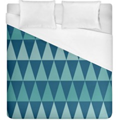 Blues Long Triangle Geometric Tribal Background Duvet Cover (king Size)