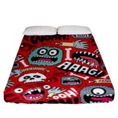 Agghh Pattern Fitted Sheet (king Size)