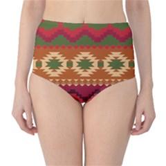 Background Plot Fashion High Waist Bikini Bottoms