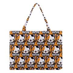 Face Cat Yellow Cute Medium Tote Bag