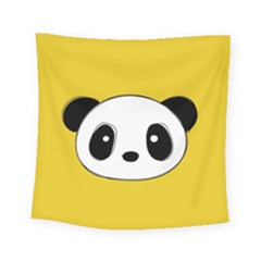 Face Panda Cute Square Tapestry (small)