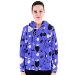 Fruit Strobery Leci Purple Women s Zipper Hoodie