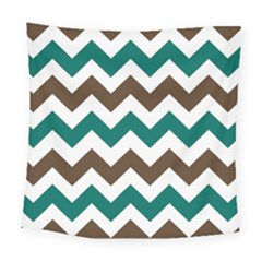 Green Chevron Square Tapestry (large)