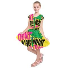 Idont Kale Think Kids  Short Sleeve Dress