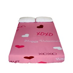 Happy Valentines Day Fitted Sheet (full/ Double Size)