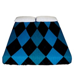 Fabric Background Fitted Sheet (california King Size)