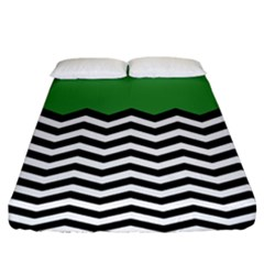 Lime Green Chevron Fitted Sheet (king Size)