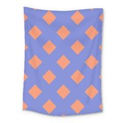 Orange Blue Medium Tapestry