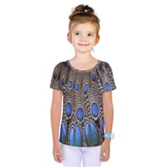 Feathers Peacock Light Kids  One Piece Tee