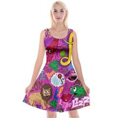 Pattern Monsters Reversible Velvet Sleeveless Dress