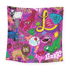 Pattern Monsters Square Tapestry (large)