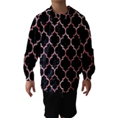 Tile1 Black Marble & Red & White Marble Hooded Wind Breaker (kids)