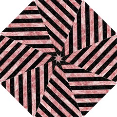 Stripes3 Black Marble & Red & White Marble (r) Hook Handle Umbrella (small)