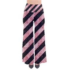 Stripes3 Black Marble & Red & White Marble So Vintage Palazzo Pants