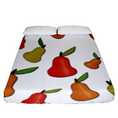 Decorative Pears Pattern Fitted Sheet (queen Size)