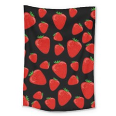 Strawberries Pattern Large Tapestry