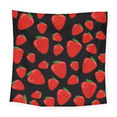 Strawberries Pattern Square Tapestry (large)