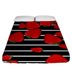 Strawberries  Fitted Sheet (king Size)