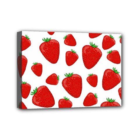Decorative strawberries pattern Mini Canvas 7  x 5