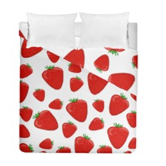 Decorative Strawberries Pattern Duvet Cover Double Side (full/ Double Size)