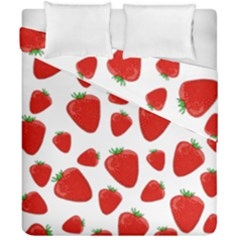 Decorative Strawberries Pattern Duvet Cover Double Side (california King Size)