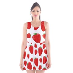 Decorative strawberries pattern Scoop Neck Skater Dress