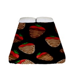 Chocolate Strawberries Pattern Fitted Sheet (full/ Double Size)