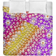Falling Flowers From Heaven Duvet Cover Double Side (king Size)
