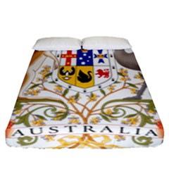 Coat Of Arms Of Australia Fitted Sheet (queen Size)