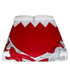 Emblem Of Bahrain Fitted Sheet (queen Size)