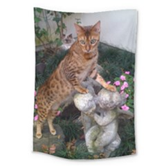 Bengal On Statue Large Tapestry