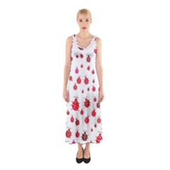 Beetle Animals Red Green Fly Sleeveless Maxi Dress