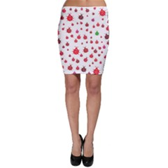 Beetle Animals Red Green Fly Bodycon Skirt