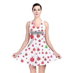 Beetle Animals Red Green Fly Reversible Skater Dress