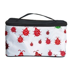 Beetle Animals Red Green Fly Cosmetic Storage Case