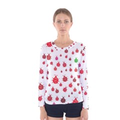 Beetle Animals Red Green Fly Women s Long Sleeve Tee